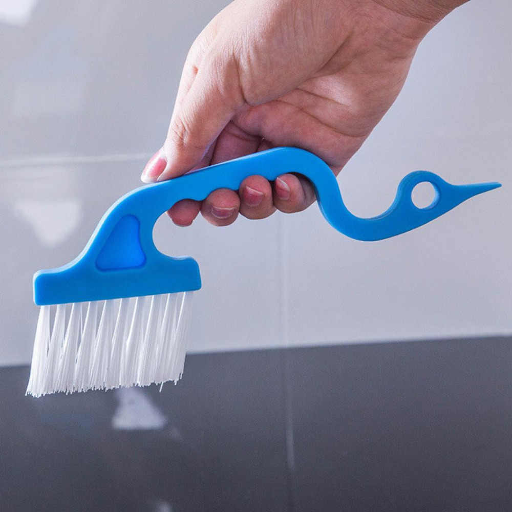 1 conjunto oco sulco escova de limpeza casa trabalho janela porta lacuna limpeza raspador sujo escova plástico mais limpo transporte da gota 2018