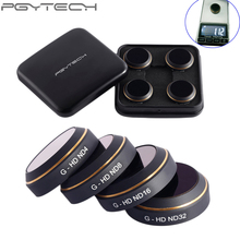 4 шт./компл. pgytech оригинальный объектив Фильтры g-hd-nd4 ND8 ND16 nd32 для dji Мавик Pro Drone Интимные аксессуары