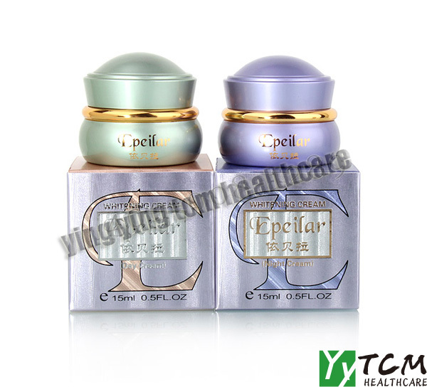 skin care original~~whitening cream for face EPEILAR day cream+night cream superfine whitening blemish serum black melanomas downplay the spot whitening skin care 7 1000ml cream for black spot free shipping