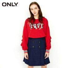 ONLY Brand 2019 New Women Skirt Winter Wool Skirt High Waist Skirt Blue Midi Skirt|117416504