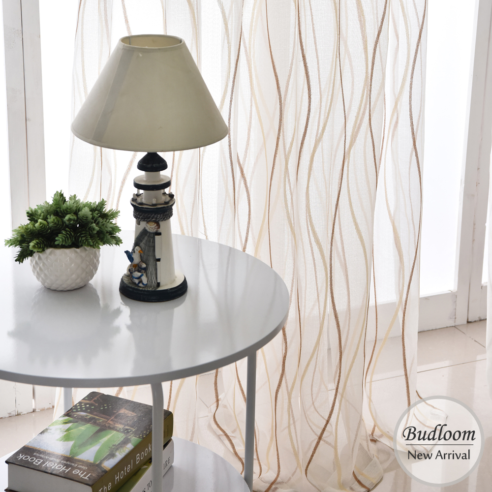 Modern Style Tulle Curtains For Living Room 3 Colors White Striped Sheer  Curtains For Bedroom