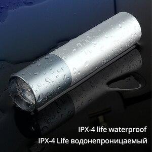 Image 4 - USB Перезаряжаемый простой Креативный светодиодный фонарик из алюминиевого сплава фокус 3 режима освещения 200 метров Расстояние освещения