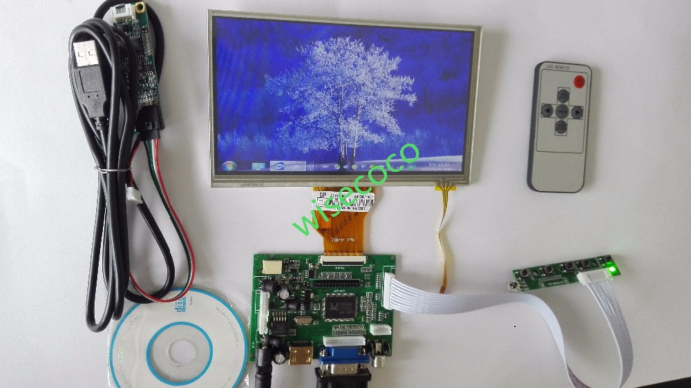 7 inch for Raspberry Pi LCD Display Screen TFT Monitor AT070TN90 with Touch Screen HDMI VGA Input Driver Board Controller