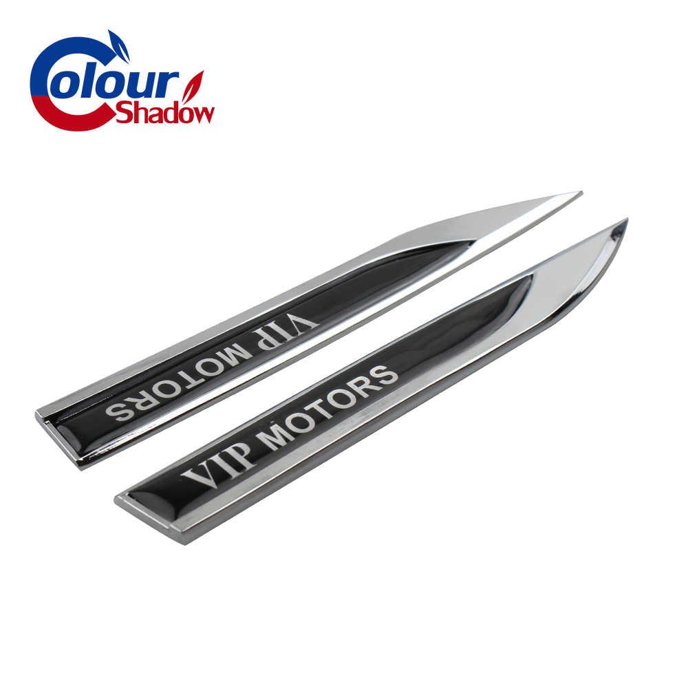 2 pièces 3D métal VIPWorks logo voiture droite et gauche porte garde-boue côté emblème créatif autocollant taille ligne badge décoration pour Golf 6 MK