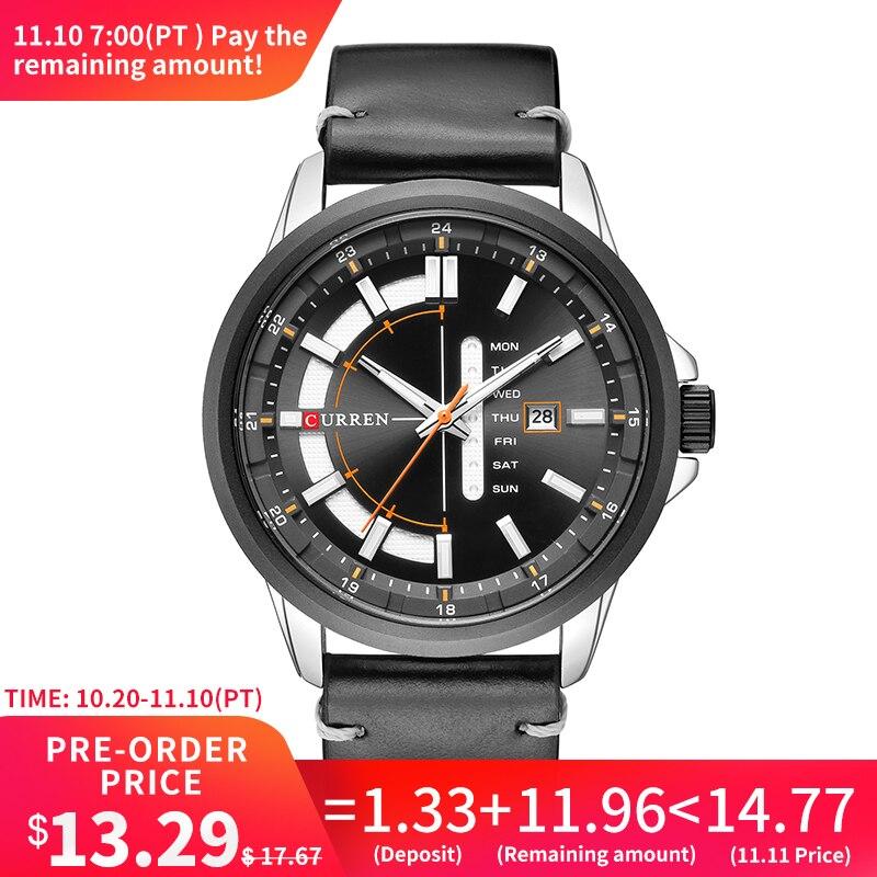 CURREN 8307 relogio masculino CURREN Watch Men Military Quartz Watch Mens Watches Top Brand Luxury Leather Sports Wristwatch цена и фото