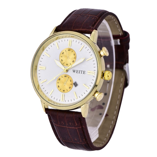 leather brand watches men weite index