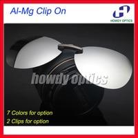 20pcs Free Shipping CO15  Frog Men And Women Sunglass Glasses Eyeglasses Al-Mg Polarized Clip On Sunglasses - 7 optional colors