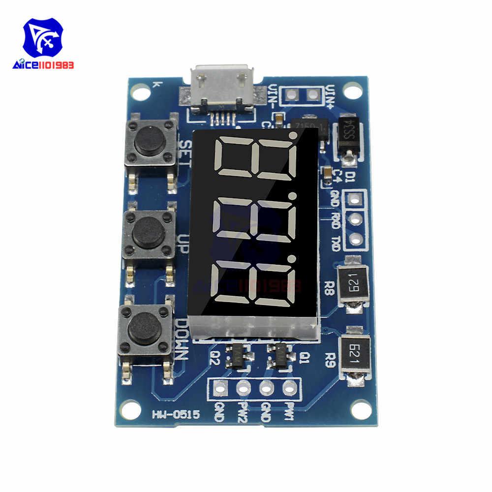 Micro USB 2 Độc Lập PWM Máy Phát Điện Kỹ Thuật Số Chu Kỳ Nhiệm Vụ Tần Số Xung Mô-đun 5-30V 5V