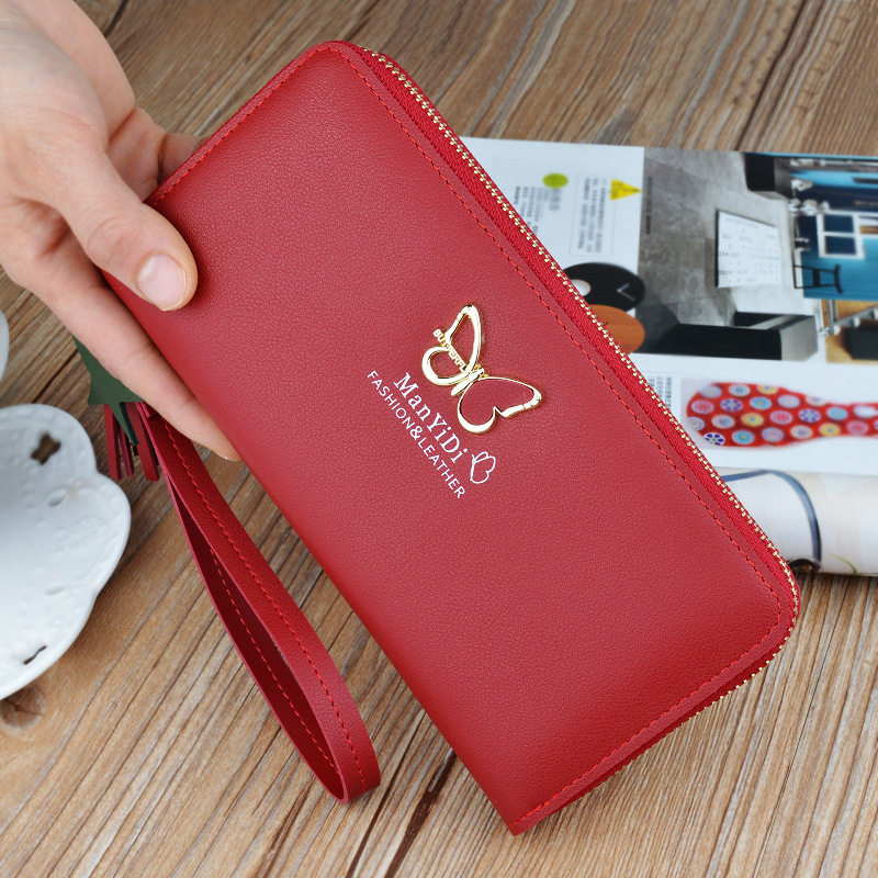 Butterfly For Ms Long Section Zipper Hand Bag 2018 Fashion Holding Wallet High Capacity  ...