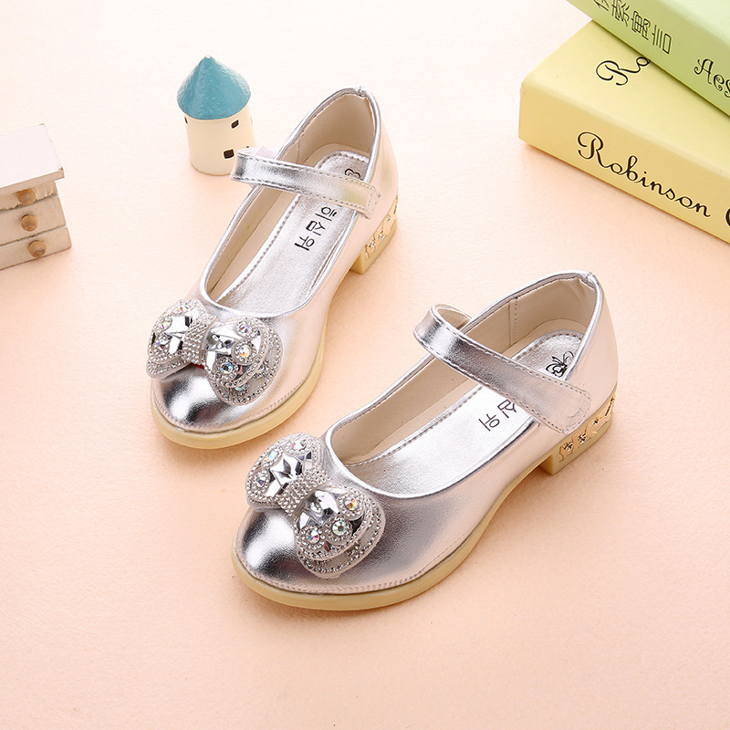 Spring-new-girls-Party-high-heeled-wedding-Leather-shoes-diamond-princess-bow-dance-shoes-Pink-gold-size-26-36-for-big-girls-3