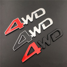 3D 4WD 4x4 Metal Emblem Badge Car Sticker Auto accessories For Suzuki Grand Vitara 2016 Swift Honda CRV Accord Civic AWD V8