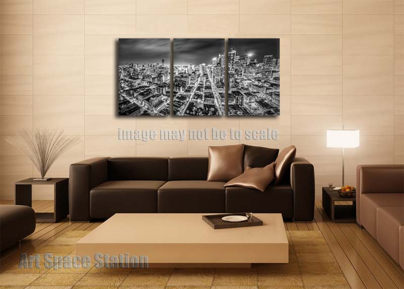 Cityscape Wall Art aliexpress : buy no framed modern cityscape wall art