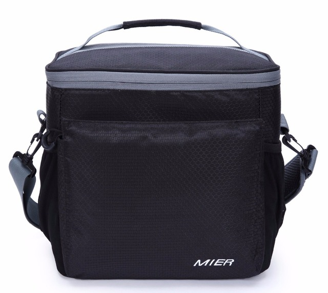 Mier Insulated Lunch Bag Men And Women Soft Cooler Box Tote With Shoulder Strap