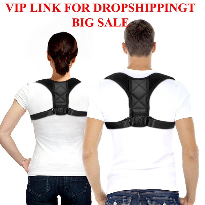 VIP Dropshipping Adjustable Back Posture Corrector Clavicle Spine Back Shoulder Lumbar Brace Support Belt Posture Correction