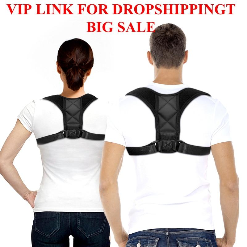 VIP Dropshipping Adjustable Back Posture Corrector Clavicle Spine Back Shoulder Lumbar Brace Support Belt Posture Correction