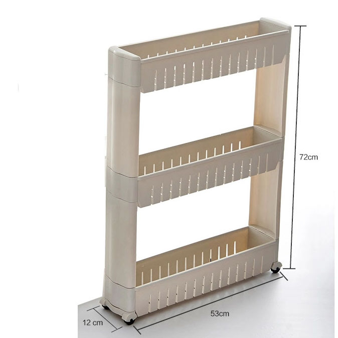 Awesome Kitchen Organizer Rack Part - 10: Aliexpress.com : Buy Removable Three Layer 53*12*72cm Bathroom Makeup Organizer  Rack Kitchen Shelf Storage Holder Room Shelves White / Green / Blue From ...