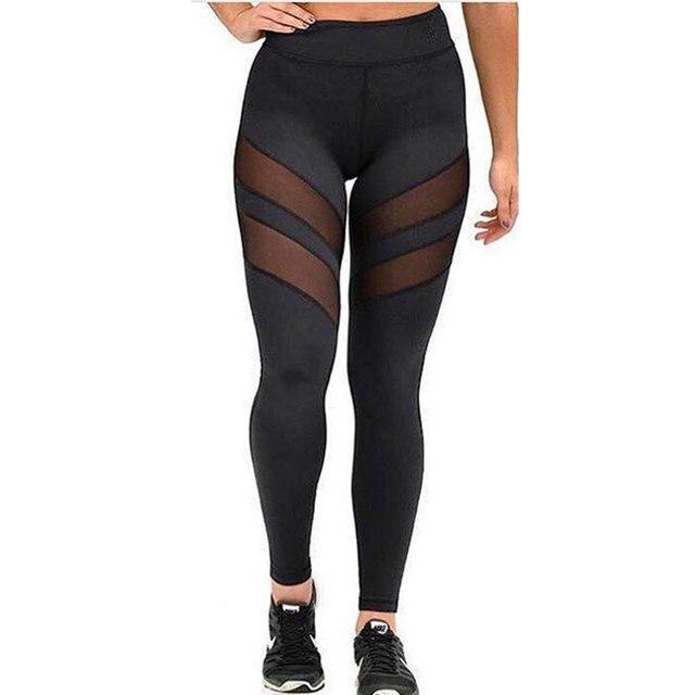 Fashion Fitness Leggings Women 2016 Fitness Pants Female Mesh High Waist Leggings Bodybuilding Work Out Leggins Women's Leggings