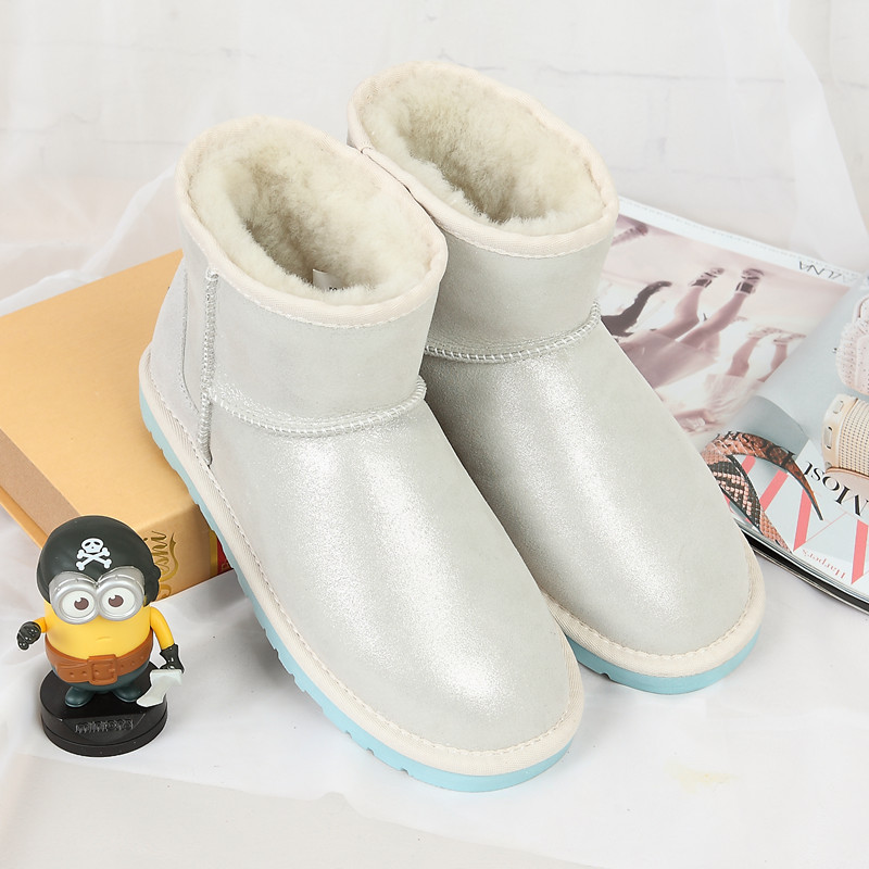 Manufacturers wholesale the boots new in 2017 100 of Australian sheep fur and the fashion leisure