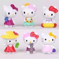 Mini Kt Cat Toys Car Ornament Accessories Interior Decoration Cute Cats Backyard Animal Kitten PVC Action