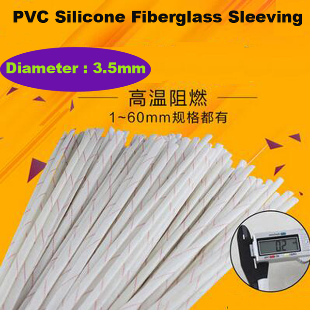 High Quality 10m/ Lot Fiber Glass High Temperature Cable Sleeve ...