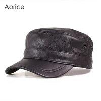 HL153 B Genuine Leather Men Baseball Cap Hat High Quality Men S Real Sheep Skin Leather