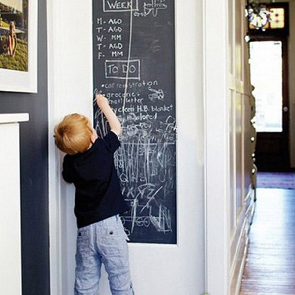 Bornisking 45x200cm Chalk Board Blackboard Stickers Vinyl Draw Decor Mural Decals Art Chalkboard Wall Sticker For
