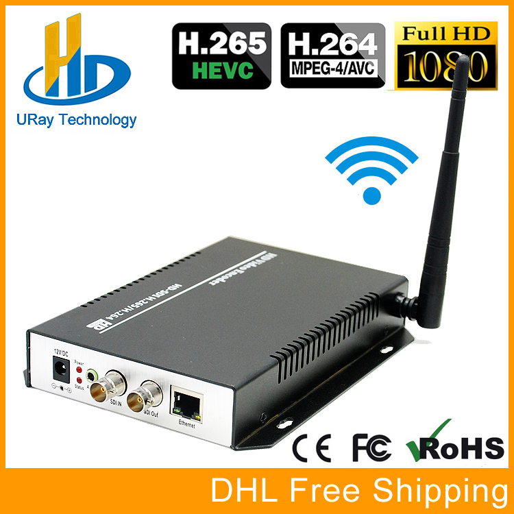 URay HEVC H.265 H.264 SD /HD /3G SDI To IP Streaming Video Encoder WiFi HD-SDI 3G-SDI To Ethernet Converter Encoder Wireless