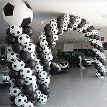 Высокое качество, 50 шт., 100 шт./лот, стиль, шары в виде футбольных мячей, футбольный шар белого цвета, воздушные шары, вечерние, праздничные украшения