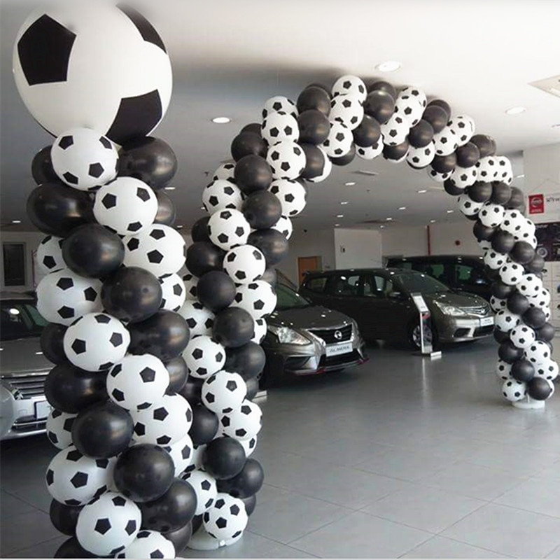 High quality50pc 100pcs /lot New style Football Balloons Soccer balloon White color balloon party decorations Celebration