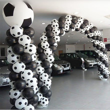 High quality50pc 100pcs /lot New style Football Balloons Soccer balloon White color party decorations Celebration