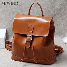 Miwind рюкзак из мягкой натуральной Натуральная кожа Рюкзаки подлинной первый Слои из коровьей кожи Топ Слои коровьей Для женщин рюкзак WUB078