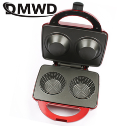 DMWD Electric Ice Cream egg Waffle Bowl Maker Iron Mold Plate breakfast Machine muffin Baker Nonstick eggs cake oven US EU plug