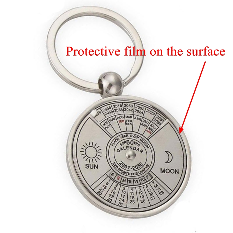 Super Perpetual Calendar Key Chain 50 Years Astrology KeyChains