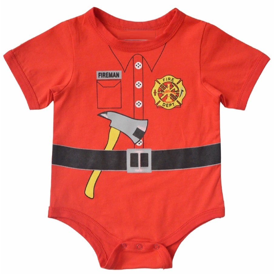 Сән Baby Boys Киім Bodysuits Baby Girl Bodysuit Қысқа өрт құтқару отты костюмдері Top Quality baby summer jumpsuit