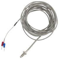 Sensor de Medição de Temperatura Termopar Tipo K 6mm Fio 4.75 M
