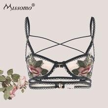 Missomo Floral Lace Bras For Women Sexy VS BH Bralet Modis Push Up Silk Bralette Plus Size Wide Cup Bra Lingerie