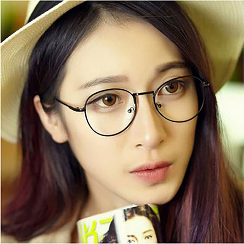 69ceec0e6ef The most popular new Europe gold mirror metal thin frame glasses round Ms. fan  art tide men glasses frame-in Eyewear Frames from Apparel Accessories on ...