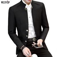 New Fashion Stand Collar Full Sleeve Man Casual Blazer Marry Blazer Men Formal Work Slim Blazer For Spring Autumn Winter YW158