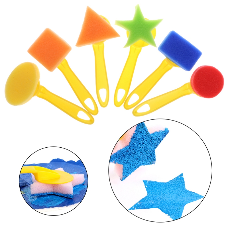 Kleuterschool Speelgoed Diy Schilderij Borstel Graffiti Tekening Plastic Spons Afdichting Set Aug-23a Eerste Kwaliteit
