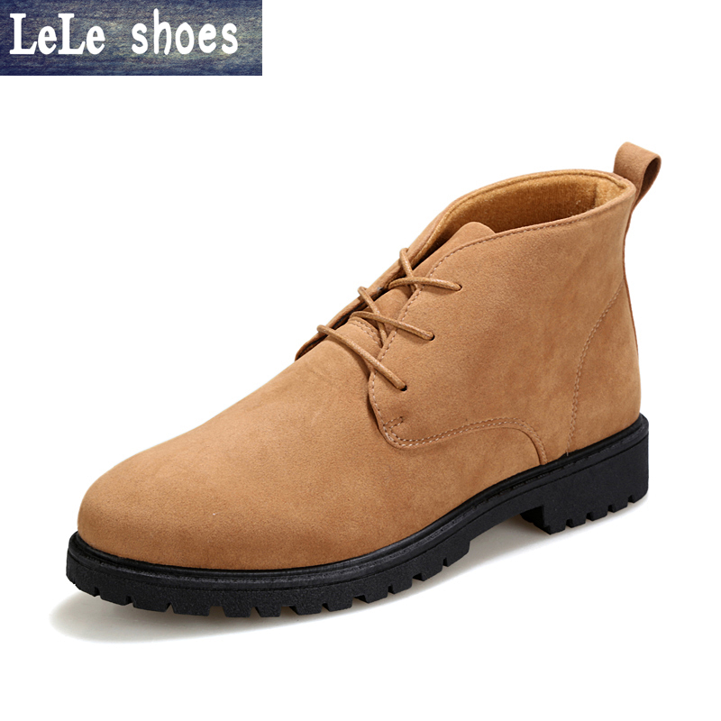 2016 New Fashion Winter Boots Men Ankle Boots Suede Leather Hand Made Desert Boots bota masculina Chelsea High Quality Rubber цены онлайн