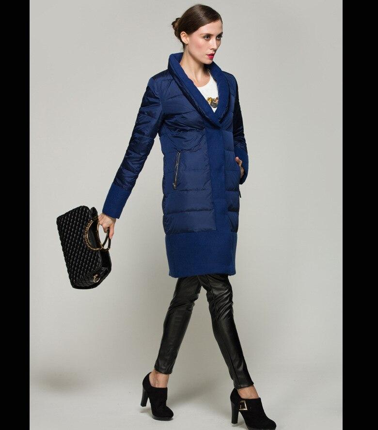 Plus Canard Laine Blue La D'hiver Couture 2018 De Chaud Hiver Unique Épais Femme Manteau Tissu Dropship W1105 Long Taille Poitrine Duvet 1wXEqvq