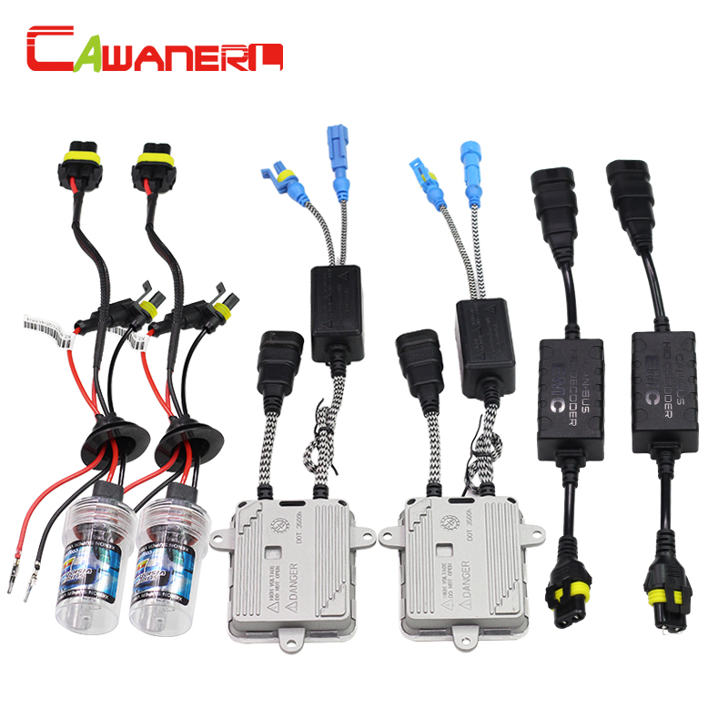 Cawanerl 55W 880 881 H27 No Error HID Xenon Kit AC Ballast Bulb 3000K-12000K Anti Flicker Canbus Decoder Car Light Headlight buildreamen2 55w 880 881 car light hid xenon kit 3000k 8000k anti flicker no error ac ballast bulb canbus adapter auto headlight