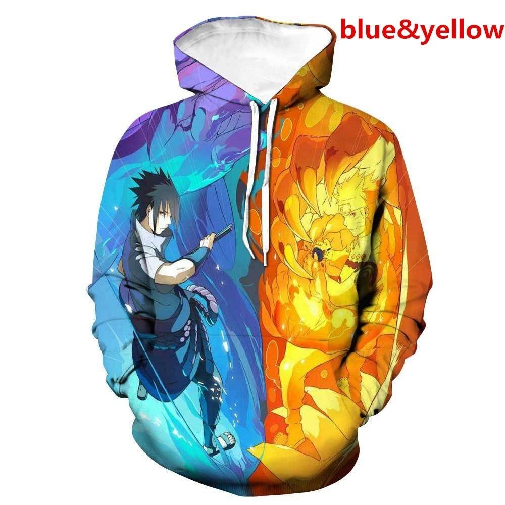ZOGAA 2019 New Naruto 3D Hoodie Fashion Streetwear Anime 8 Models Cosplay Supreme Plus Size S-3XL Men