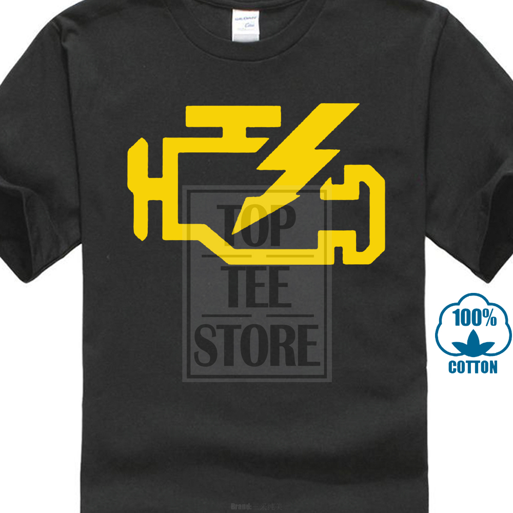 Check Engine Light On And Off >> Us 7 27 9 Off Men Summer T Shirt Check Engine Light Mechanic Auto Repair Mens Cotton T Shirt In T Shirts From Men S Clothing On Aliexpress