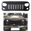 ABS Birds Black Eyebrow Front Grille With Insect-proof Net Fly Net Insert For Jeep Wrangler JK 2007-2015 Car Accessories