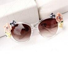 Verano Oculos Vintage Retro Barroco Flor de Rose gafas de Sol para Las Mujeres diseño de marca cat eye ladies gafas de sol gafas de sol Mujer