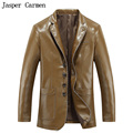 free shipping 2017 new style man's leather jacket male Single Breasted leather clothing outerwear men Size M-XXXL 289