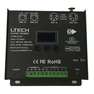 Image 5 - Controlador de decodificador Led DMX, entrada de DC12 24V, 5A x 5CH de salida RGB/RGBW, controlador Led XLR 3/RJ45 8 / 16 bits 256 /65536, nivel gris, novedad
