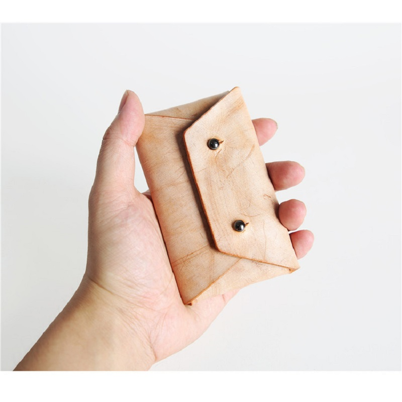 EACME Handmade Fog Wax Leather Business Card Holder Men Credit ...