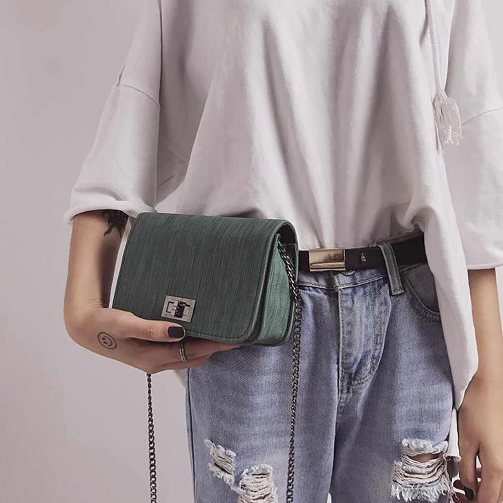 Lady Travel กระเป๋าและกระเป๋าถือ CROSS Body กระเป๋าหนัง Crossbody กระเป๋าผู้หญิง 2019 กระเป๋าสะพายโซ่ Messenger กระเป๋าวาง